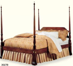 Stickley Tall Poster Cherry Bed 3027 King Excellent