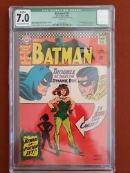 Batman 181 Cgc 7.0 1966 Qualified 1st Appearance Of Poison Ivy