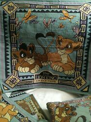 THE LION KING 2 SIMBA#x27;S PRIDE WALL HANGING TAPESTRY AND PILLOW