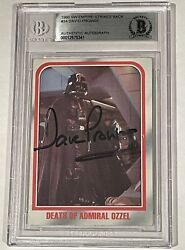 Dave Prowse Star Wars Empire Esb Darth Vader Signed Topps Card Beckett Bas