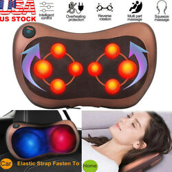 Shiatsu Shoulder Neck And Back Massager Pillow With Heat Deep Kneading Cushion