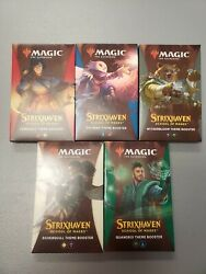 New Sealed Mtg Magic Strixhaven Theme Booster Set Of All 5 Packs