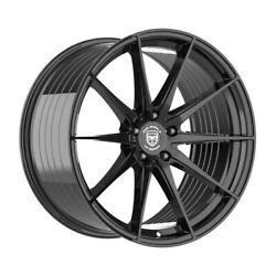 4 Hp4 20 Inch Staggered Gloss Black Rims Fits Ford Fusion 2006 - 2012
