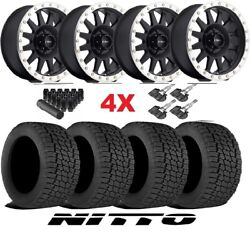 Method Trd Wheels Rims Tires 265 70 17 Nitto G2 At Mr304 Black Machined