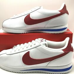 Nike Cortez Basic Leather Og Menand039s Shoes White/varsity Red 882254-164