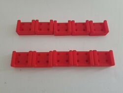 10 Pack 3d Printed Battery Holder Made For Milwaukee M18 Batteries Red