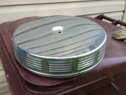 67 Rare 1967 Pontiac Gto Louvered Air Cleaner Complete Chrome Top And Base