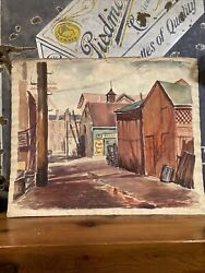 Gorgeous Christine Glasell 1932 Watercolor Of City Streets, Smithsonian Artist