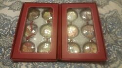 New Pottery Barn 12 Days Of Christmas Glass Ornaments Holiday