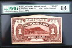 Cc028 Very Rare China-foreign Proof 1.1 1920 Bank Of Canton Limited Shanghai