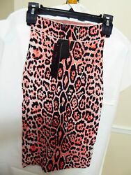 Bcbg Maxazria Leopard Print Bandage Material Skirt New With Tags  Size Us Xs