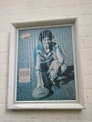 Australian Sport Collectables Rugby League Steve Gearing Framed Print 1970's