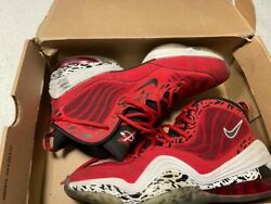 Nike Air Max Penny Hardaway V 5 Red Eagle Black White - Size 10 - 537331-600