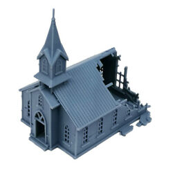 Outland Models Railway Scenery Structure Damaged Church 1160 N Scale
