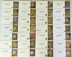 28 Mlb Ballpark Coin Collection 24k Gold Overlay Limited Edition + 2 Cases