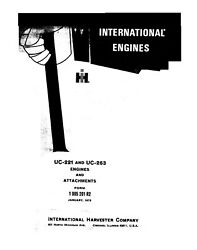International Uc-221 And Uc-263 Diesel Engine And Attachments Operators Manual 1972