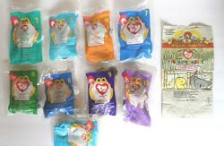 McDonald's Happy Meal TY Toy Beanie Babies Lot of 9 NEW 1998 amp; 1999 Meal Bag