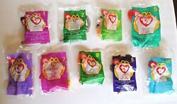 McDonald's Happy Meal TY Toy Beanie Babies UNOPENED 1998 amp; 1999 Lot of 9
