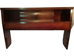 Vintage Kent Coffey Parkdale Mcm Bookcase Headboard Full Size Double Queen