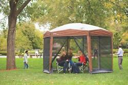 Coleman 12 Ft. Instant Pavilion Portable Outdoor Gazebo Canopy Shelter Screen