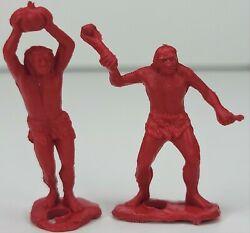 Mpc Multiple Products Corp Vintage 1960's Prehistoric Playset 40mm 2 Cavemen