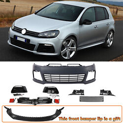 R20 Style Bumper W/ Front Lip W/ Led Drls W/ Grille For Volkswagen Golf 6 12-13