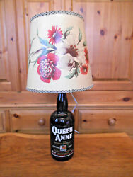 Large Vintage Whisky Bottle Lamp With Period Lamp Shade - C 1940/50and039s