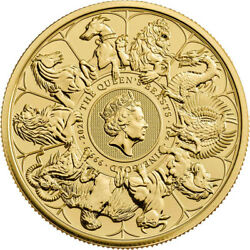 2021 U.k. 100 Pound 1 Oz Gold Queenand039s Beast Completer Coin Bu