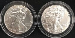 2 2019 Silver Eagles, From A Newly Opened Roll Of 20beautiful Coins
