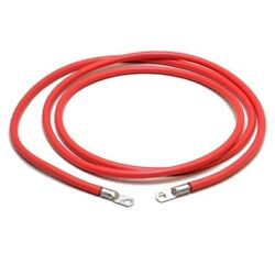 2 Awg Boat Battery Cable 78 Inch 1/2 Lugs Red