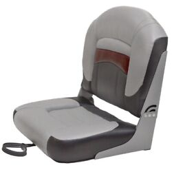 Tracker Folding Fishing Boat Seat 25 Inch Two Tone Gray Red