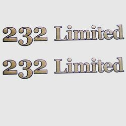 Yamaha Boat 232 Limited Decals 15 1/4 Inch Brown F2a-u4125-90 - Pair