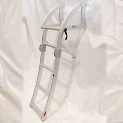 Boat Aluminum 4 Step Ladder Curved 57 5/8 Inch Long