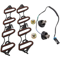 5x Knock Sensor Harness Intake Manifold Gasket Kit Fits For Gmc For Chevy