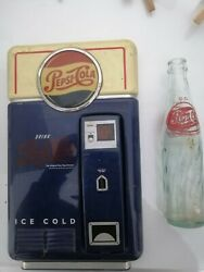 Vintage Pepsi Cola Phone Wall Mounted Land Line Tested Works With Rare Bottle