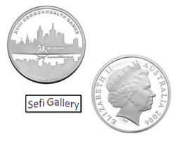 Australia 5 Dollars 2006 Melbourne City Of Sport Silver Proof Coin
