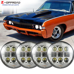 4x 5-3/4 5.75 Inch Led Projector Headlight Hilo Fit For Chevy Corvette Chevelle