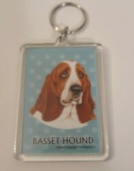 Basset Hound 2quot;×3quot; Keychain Free Shipping