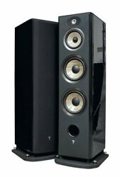 Focal Aria 948 / Floor Standing Speakers Black Piano Lacquer Pair - New