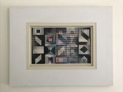 Yaakov Agam Agamograph Space Agam B Signed Certificate Limited Framed