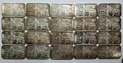 Tube Of 20 Nevada The Silver State By Nevada Coin Mart 1 Oz .999 Silver Bars Bu