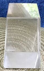 Mid-century Modern Vintage Lucite / Acrylic Clear Hexahedron Paperweight