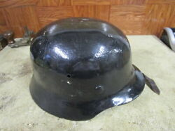 Ww2 German Helmet With Liner And Chin Strap Refurbished In 50s
