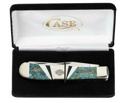 Case Xx Harley Trapper Pocket Knife Stainless Blade Blue Coral Black Jet Of Pear