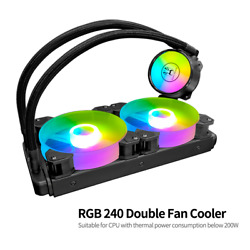 Pc Case Water Cooler Cool Moon Cold Moon 240 One-piece With Rgb 120mm Quiet Fans