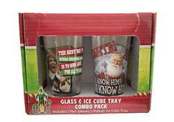 Elf - Movie - 2 16 Oz Pint Glasses And Rubber Ice Cube Tray Combo Pack - Glass