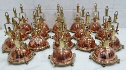 Antique Smooth Art Deco Hanging Pendant Spot Light Brass And Copper 18 Piece