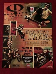 Gravity Games By Saturn Cars At Rock And Roll Hof 2004 Print Ad - Great To Frame