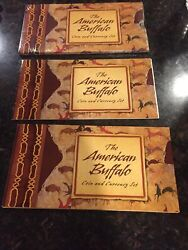 2001 American Silver Buffalo Coin Currency Set W/stamp Silver Cert Unsealed