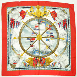 Hermes Scarf Kare 90 Silk Vive Le Vent Blow The Wind. Ship Women And039s Mens _15768